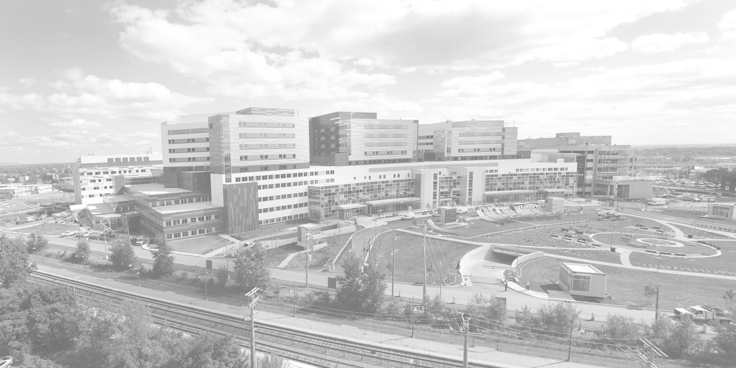 View of the MUHC and RI-MUHC: location of the Meakins-Christie Laboratories